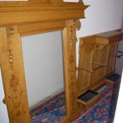 Gründerzeitgarderobe Eiche hell um 1900 guter Zustand Spiegel Schirmständer kleine Schublade 135 b22 t 265 h  800 €