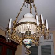 Majolika Deckenlampe Bronce Glasprismen einflammig neun Kerzrhalter gute Qualität 60 b 100 h 900 €