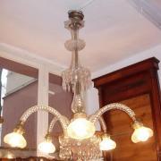 Deckenlampe Glas mit Prismen um 1920 neu verkabelt fünfflammig  80 b 110 h  950 €