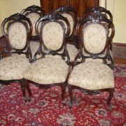 sechs Stühle Louis Phillip Palisander um 1860 Orginalzustand etwas restaurationsbedarf  50 b52 t 106 h 1200 €