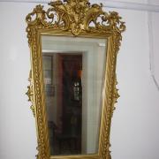 Goldstuckspiegel um 1890 Orginalfassung mit Goldbroncs übergangen 66 b 120 h  380 €