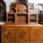 Art Deco Buffet Eiche um 1925 Bandintarsien Messingschuhe 1300 €
