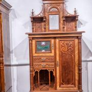 Kabinettschrank Nussbaum um 1900 Messingverglasung sehr aufwändig guter Orginalzustand 100 b50 t232h 2200 €