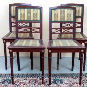 vier Stühle Neo Empire um 1900 Mahagoni guter Zustand 42 b 41 t 88 h 1000 €