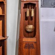 Jugendstilstanduhr konisches Gehäuse offen Eiche um 1910 52 b 32 t  202 h 1300 €