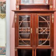 Neo Empire Salonschrank Mahagoni um 1900 guter Orginalzustand 102 b 46 t 185 h 1800 €